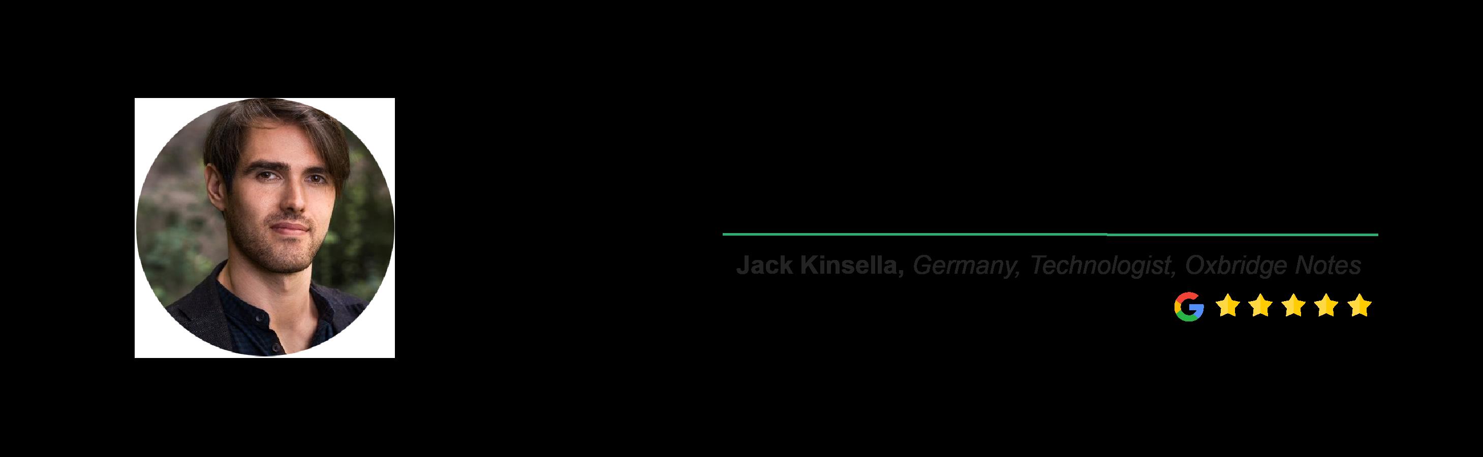 Locus Testimonial - Jack Kinsella